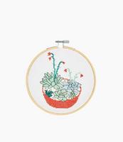DMC Succulents Cross Stitch Kit with Hoop