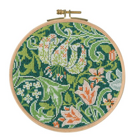 Golden Lily Cross Stitch Kit by William Morris