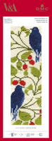 Bird and Berry Bookmark Cross Stitch Kit by William Morris
