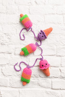Ice Cream Chain Crochet Pattern By DMC