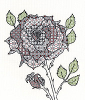 Blackwork Rose Kit By Bothy Threads