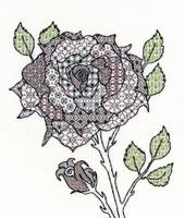 Blackwork Rose Kit By Bothy Threads