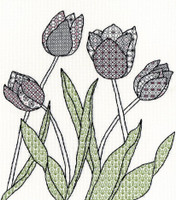 Blackwork Tulips Kit by Bothy Threads
