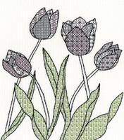 Blackwork Tulips Kit by Bothy Threads