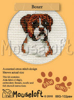 Boxer Cross Stitch Kit by Mouseloft