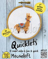 Llama Quicklet Cross Stitch Kit by Mouseloft