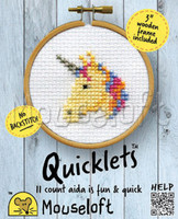 unicorn Quicklet Cross Stitch Kit by Mouseloft