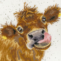 Moo Cross Stitch Kit by Bothy Threads