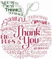 Lets Thank Someone Cross Stitch pattern