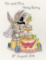 Bebunni Cutting the cake Cross Stitch Kit by Bothy Threads