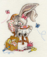 Bebunni Sewn with Love Cross Stitch Kit By Bothy threads