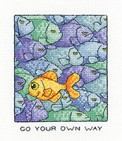 Your Own Way Cross Stitch Kit By Heritage Crafts
