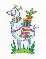 Llama Cross Stitch Kit By Heritage Crafts