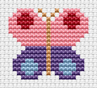 Easy Peasy Butterfly Cross Stitch Kit by Fat cat