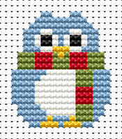 Easy Peasy Winter Owl Cross Stitch Kit by Fat cat