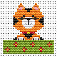 Sew simple Cat Cross Stitch Kit by Fat cat