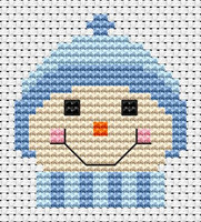 Sew simple Frosty Cross Stitch Kit by Fat cat