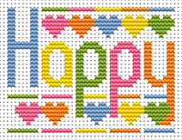Sew simple Happy Cross Stitch Kit by Fat cat