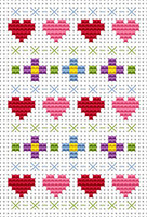 Sew  simple sampler Cross Stitch Kit by Fat cat