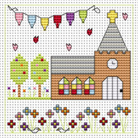 Church Celebration card kit Cross Stitch Kit by Fat Cat