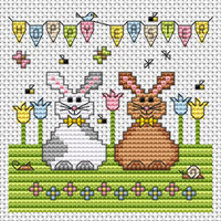 Happy Easter card kit Cross Stitch Kit by Fat cat