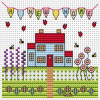New home card kit Cross Stitch Kit by Fat cat