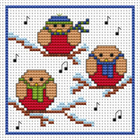 Rockin Robins card kit Cross Stitch Kit by Fat cat