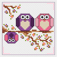 The Twitts card kit Cross Stitch Kit by Fat cat