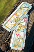 Counted Cross Stitch: Bookmarks: Deco Butterflies: Set of 2