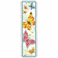 Counted Cross Stitch Kit: Bookmark: Butterflies II