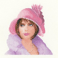 Harriet in Miniature Elegant Lady Cross Stitch Kit By Heritage
