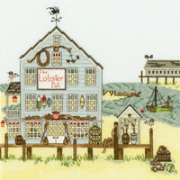 New England: The Lobster Pot Cross Stitch Kit By Bothy Threads