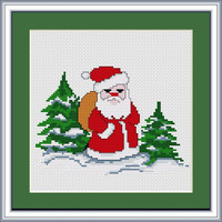 Santa Claus Mini Cross Stitch Kit by Luca S