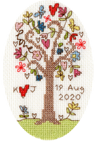 Sweet Tree Card Cross Stitch Kit By Bothy Threads