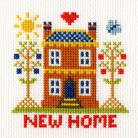 New Home Card Cross Stitch Kit By Bothy Threads