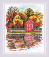 Kuskovo Dutch House cROSS Stitch From Riolis