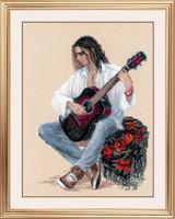 Guitarist Cross Stitch Kit By Riolis