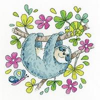 Sloth Cross Stitch Kit By Karen Carter