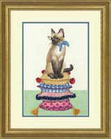 Counted Cross Stitch Kit: Cat Lady By Diensions