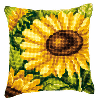 Chunky Cross Stitch Kit: Cushion: Sunflowers By Vervaco