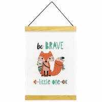 Counted Cross Stitch Kit: Banner: Be Brave By Dimensions