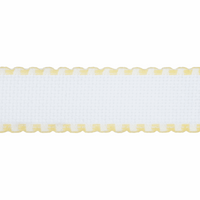 Aida Band: 16 Count: 1m x 50mm: White/Yellow Edging