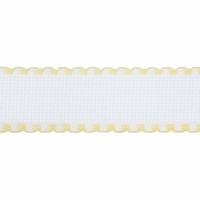Aida Band: 16 Count: 1m x 50mm: White/Yellow Edging