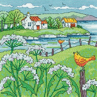 Cow Parsley Shore Cross Stitch Kit By Heritage