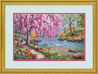 Counted Cross Stitch: Cherry Blossom Creek By Dimensions