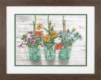 Counted Cross Stitch: Flowering Jars By Dimension