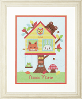 Counted Cross Stitch: Tree House Birth Record By Dimensions