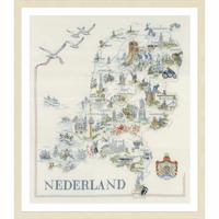 Counted Cross Stitch Kit: Map of Holland By Lanarte