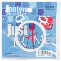 "Janlynn Just A Frame Round 2.5"" pack of 2"