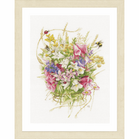 Counted Cross Stitch Kit: Summer Bouquet By Lanarte